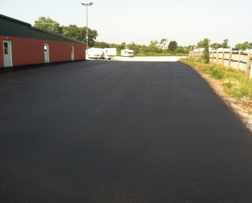 New Sealcoat Parking Lot