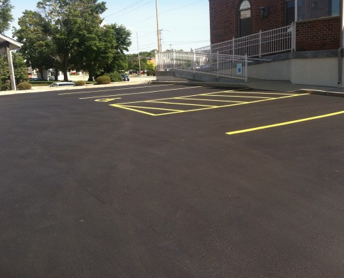 New Sealcoat and Striping Kenosha County