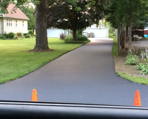 Driveway pre-sealcoating