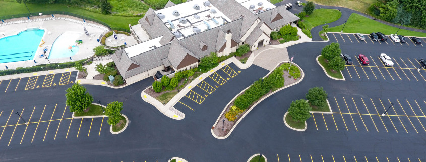 Large Parking Lot Seal Coating and Striping